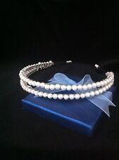 Handmade Double Pearl headband, Bride, bridesmaid, flower girl any colour