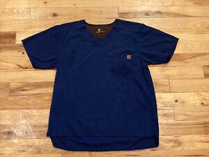 Carhartt Men's Ripstop Utility Blue Scrub Top   C15108   Size Medium Medical VGC