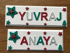 Christmas Themed Personalised Children's Wooden Plaque