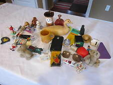 VINTAGE MIXED ESTATE SALE JUNK DRAW LOT - WOOD DECOY, OTTERBOX, SUSAN PALEY