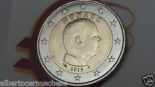 MONACO 2 euro 2015 da rotolino fdc Principe ALBERTO prince albert II Монако