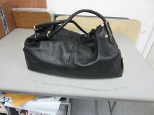 Pre-owned Salvatore Ferragamo Large Black Leather Handbag