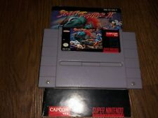Street Fighter II: The World Warrior (SNES) - Cart and Manual