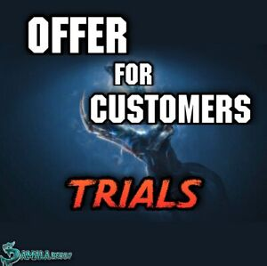 Exclusive offer for customers, Trials
