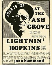 Lightening Hopkins Concert Poster - 8x10 Photo