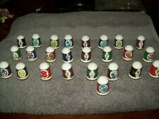 Lot of 25 Collection Of Porcelain Thimbles  Flowers