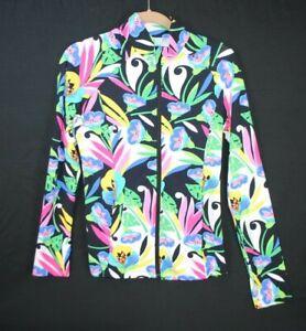 IBKUL Full Zip Long Sleeve Pullover Shirt UPF 50 Golf Tennis Women's Size S
