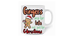 Gingers are for life Christmas mug