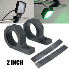 2x 2'' inch Mounting Bracket LED Light Clamp Bar Roll Cage Tube Fog Offroad