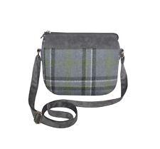 Earth Squared - Messenger Shoulder Bag - Tweed Wool - Storm Grey - 29x15x5cms