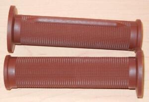 "1970's vintage Tommaselli pair grips fit 7/8"" bars 130mm long BROWN 01617-CFM"