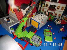 Playmobil 3x Wohnhaus 4279, Zusatzetagen, Licht 2x Garage Wintergarten Kran uvm.