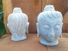 Pair of hand-Carved Statues - Tibetan-style Buddha- meditation/temple/Buddhism