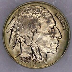 1938-D 1938 Buffalo Copper Nickel 5c ICG MS 64
