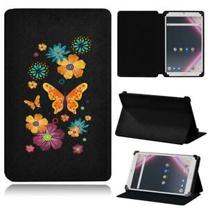 Color Printed Leather Smart Stand Case Cover For Archos Core 101 /Core 80 + Pen