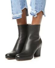 Maison Margiela⚡️Oval block heel grain leather ankle zip boots size 38/8US
