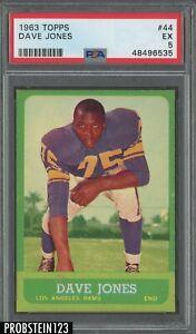1963 Topps Football #44 Dave Deacon Jones Rams RC Rookie HOF PSA 5 EX