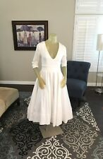 Women's White Cotton Blend Full Circle Dress Size Medium