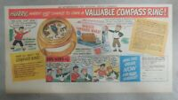 """Nabisco Cereal Ad: """"Compass Ring"""" Premium Shredded Wheat 1940's Size: 7.5 x 15"""