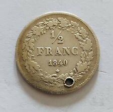 1/2 franc belge 1840 Leopold I !!!(347.370expl.)