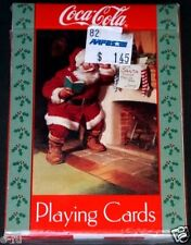 1992 Coca Cola SANTA CLAUS Playing Cards Chimney Sealed Aafes Military Sticker