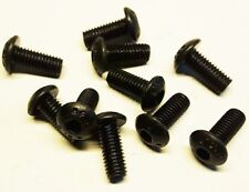 10 Stück Linsenkopfschraube M6x12mm , schwarz , Stahl hochfest 10.9 - ISO 7380