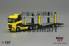 MINI GT 1:64 Mercedes Benz Actros with Car Carrier Yellow MGT00137 Diecast Model