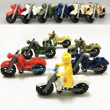 6PCS/SET Custom MOC Vintage Motorcycle Bike Fit Superhero Military Mini Figure