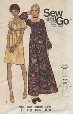 Butterick 6124 Sewing Pattern VTG 70's Pullover Peasant Dress Size Large 16-18