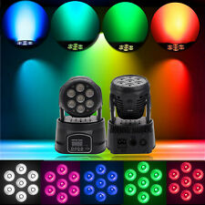 New RGBW 4in1 7x10W LED Moving Head Lamp DJ Club Party Stage light 9/14 Channel