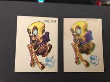 SOMPORTEX-WEIRDIES (X36)- William X2  - Misprint & Normal Card