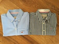 Bundle Shirt Blouse x2 Hollister Jack Wills Striped Checked Blue White S/M