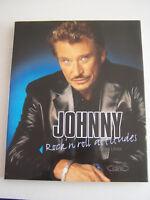 JOHNNY HALLYDAY , ROCK ' N ' ROLL ATTITUDES . 159 PAGES . TRES BON ETAT .