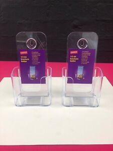 2 x 1/3rd A4 Leaflet Holder Counter Flyer Shop Retail Dispenser Display Stands