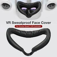 PU Lederschaum VR Face Cover Schweißfeste Schnittstellenhalterung for Oculus Q2