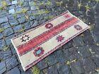 Bohemian rug, Vintage small rug, Handmade wool rug, Doormats | 1,2 x 2,4 ft