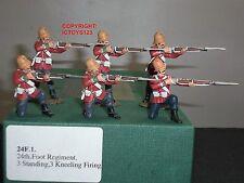FRONTLINE FIGURES 24F1 ZULU WAR BRITISH 24TH FOOT STANDING + KNEELING FIRING SET