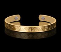18k Gold Armreif vergoldet 21cm Designer Armband Schmuck Vintage Herren Damen