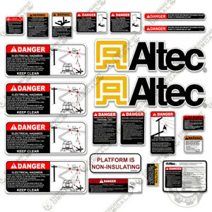 Altec AT200A Decal Kit Bucket Truck - Warning Stickers - 3M Vinyl!