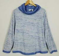 Chico's Weekends Women's 2 (Large) Long Sleeve Soft Knit Cowl Neck Top