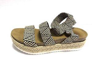 Steve Madden, Kimmie, Women's Platform Sandals, Size 8M, Black/White