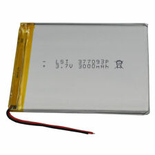 3.7V 3000 mAh Rechargeable Polymer Li battery For GPS PDA iPod Tablet PC 377093