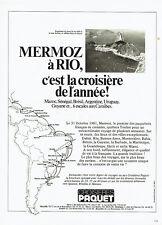 Publicité Advertising  117  1981  Croisières Paquet paquebot Mermoz à Rio