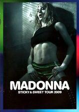 MADONNA 2009 STICKY & SWEET EURO TOUR CONCERT PROGRAM BOOK / NEAR MINT 2 MINT