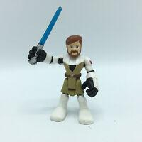 "2011 Hasbro Star Wars Obi-Wan Kenobi Action Figure Playskool 2.5"" Tall EUC"