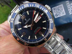 FESTINA Divers Automatic F20478/3 Sapphire Lens Miyota mvmt Screw-down Crown NEW