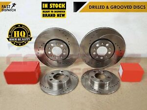 MAZDA MX5 1.8 FRONT REAR DRILLED and GROOVED PERFORMANCE BRAKE DISCS PADS