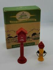 Hallmark Kiddie Car Corner Fire Call Box and Fire Hydrant
