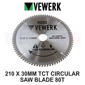 VEWERK TCT Circular Saw Blade 210mm x 30mm x 80T for Aluminum 9080