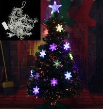 4.5M 28 LED Snowflak Outdoor Indoor String Fairy Light Christmas Xmas Tree Decor